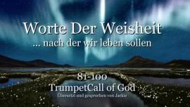 081-100-WORTE DER WEISHEIT von YahuShua HaMashiach nach denen wir leben sollen TROMPETE GOTTES