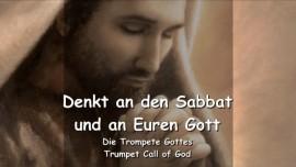 DE1-45 Das sagt der Herr - Denkt an den Sabbat und an euren Gott - Trompete Gottes