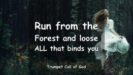 The Lord says - Run from the Forest and loose all that binds you - TRUMPET CALL OF GOD