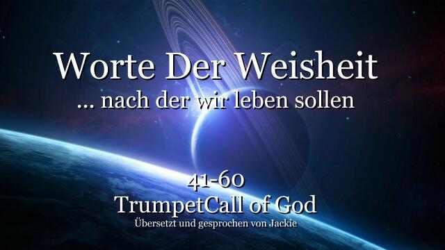 041-060 WORTE DER WEISHEIT von YahuShua HaMashiach nach denen wir leben sollen-TROMPETE GOTTES