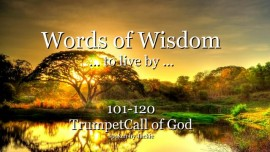 101-120-Words of Wisdom from Jesus Christ - YahuShua HaMashiach - Trumpet Call of God Online