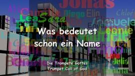 DE1-20 Der Herr erlaeutert - Was bedeutet schon ein Name-Posaune Gottes