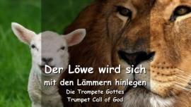 DE1-43 - DAS SAGT DER HERR - Der Loewe wird sich mit den Laemmern hinlegen - TROMPETE GOTTES