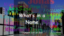 EN1-20 The Lord explains - What is in a Name-Trumpet Call of God