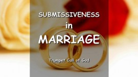 THUS SAYS THE LORD regarding Submissiveness in Marriage