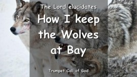 HOW I KEEP THE WOLVES AT BAY The Lord explains TRUMPET CALL OF GOD