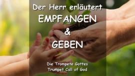 2006-03-11 DER HERR SPRICHT ZU ALLEN ELTERN-Wie ihr empfangen habt so muesst ihr geben TROMPETE GOTTES