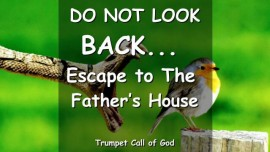 Do not look back-Escape into the Fathers House-Trumpet Call of God-Love Letter from Jesus