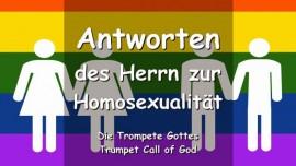 Trompete Gottes-Antworten des Herrn zur Homosexualitaet-Gesegnet sind Jene die ueberwinden um Meines Namens willen