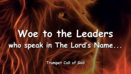 2006-01-31 - Thus says the Lord-Woe to the Leaders who speak in the Lords Name-Trumpet Call of God-Love Letter from God