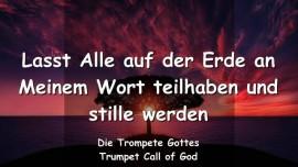 2008-04-24 - LASST ALLE AN MEINEM WORT TEILHABEN & STILLE WERDEN-DER TROMPETENRUF GOTTES-Liebesbrief von Gott